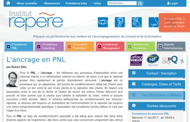 http://www.institut-repere.com/PROGRAMMATION-NEURO-LINGUISTIQUE-PNL/institut-repere-base-documentaire-lancrage.html