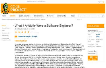 http://www.codeproject.com/Articles/143489/What-if-Aristotle-Were-a-Software-Engineer