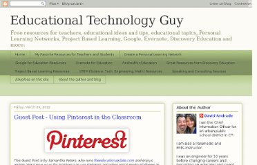 http://educationaltechnologyguy.blogspot.com/2012/03/guest-post-using-pinterest-in-classroom.html