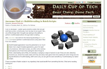 http://dailycupoftech.com/2009/03/26/awesome-find-7-multithreading-in-batch-scripts/