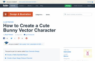 http://vector.tutsplus.com/tutorials/illustration/how-to-create-a-cute-bunny-vector-character/