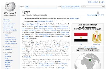 http://en.wikipedia.org/wiki/Egypt#Ancient_Egypt