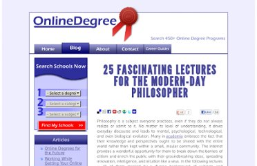 http://www.onlinedegree.net/25-fascinating-lectures-for-the-modern-day-philosopher/