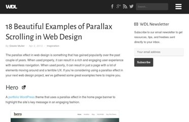 http://webdesignledger.com/inspiration/18-beautiful-examples-of-parallax-scrolling-in-web-design