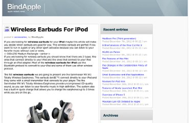 http://bindapple.com/wireless-earbuds-for-ipod/