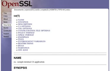 http://www.openssl.org/docs/apps/ca.html#CONFIGURATION_FILE_OPTIONS