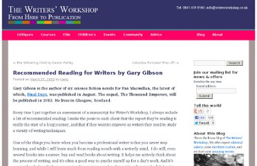 http://www.writersworkshop.co.uk/blog/recommended-reading-for-writers-by-gary-gibson/