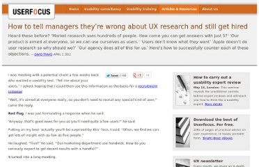 http://www.userfocus.co.uk/articles/how_to_tell_managers_theyre_wrong.html