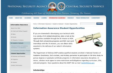 http://www.nsa.gov/ia/academic_outreach/student_opportunities/index.shtml