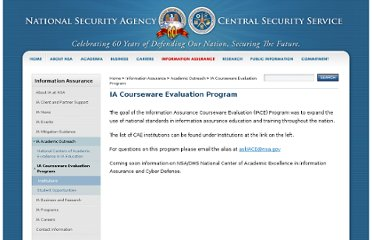 http://www.nsa.gov/ia/academic_outreach/iace_program/index.shtml