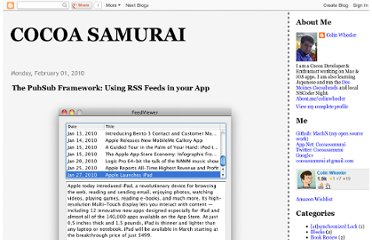 http://cocoasamurai.blogspot.com/2010/02/pubsub-framework-using-rss-feeds-in.html