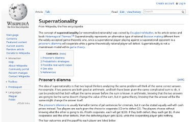 http://en.wikipedia.org/wiki/Superrationality