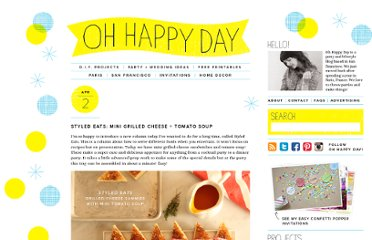 http://ohhappyday.com/2012/04/styled-eats-mini-grilled-cheese-tomato-soup/#more-13612