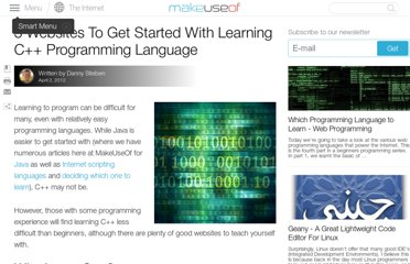 http://www.makeuseof.com/tag/3-websites-started-learning-programming-language/