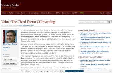 http://seekingalpha.com/article/471811-value-the-third-factor-of-investing