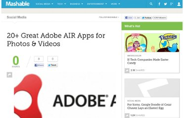 http://mashable.com/2009/01/14/adobe-air-apps-photo-video/