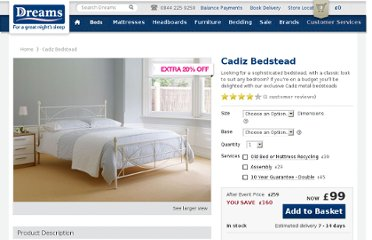 http://www.dreams.co.uk/cadiz-bedstead/