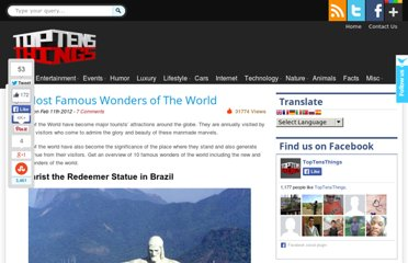 http://www.toptensthings.com/2012/02/10-most-famous-wonders-of-the-world/