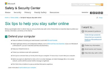 http://www.microsoft.com/security/family-safety/online-safety-tips.aspx