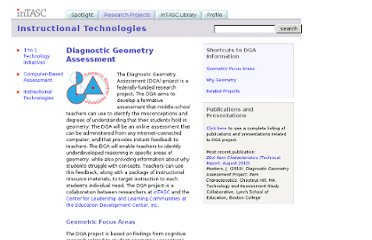 http://www.bc.edu/research/intasc/researchprojects/dga/dga.shtml#WhyGeometry