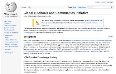 http://en.wikipedia.org/wiki/Global_e-Schools_and_Communities_Initiative