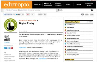 http://www.edutopia.org/blog/digital-poetry-terry-heick