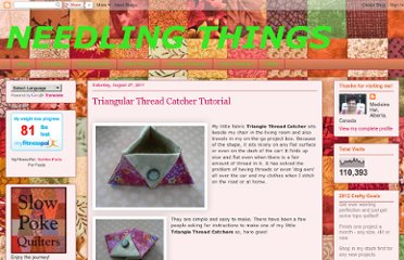 http://needlingthings.blogspot.com/2011/08/triangular-ort-thread-catcher.html