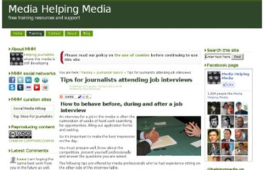 http://www.mediahelpingmedia.org/training-resources/journalism-basics/667-tips-for-journalists-attending-job-interviews