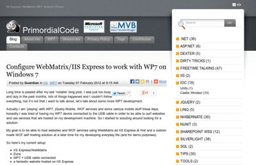 http://www.primordialcode.com/blog/post/configure-webmatrix-iis-express-wp7-windows7