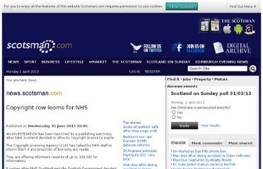 http://www.scotsman.com/news/copyright-row-looms-for-nhs-1-1691442
