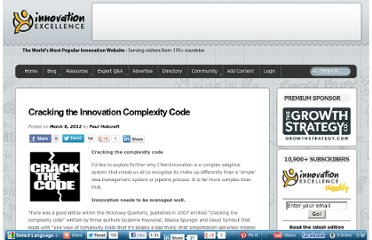 http://www.innovationexcellence.com/blog/2012/03/08/cracking-the-innovation-complexity-code/