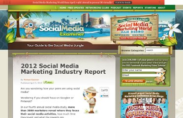 http://www.socialmediaexaminer.com/social-media-marketing-industry-report-2012/