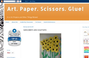 http://art-paper-scissors.blogspot.com/2011/04/sunflowers-and-sculptures.html