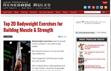 http://jasonferruggia.com/top-20-bodyweight-exercises-for-building-muscle-strength/