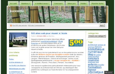 http://docmiop.wordpress.com/2010/03/26/500-sites-web-pour-reussir-a-lecole-2/