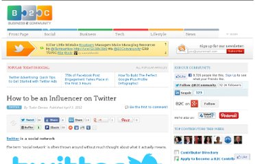 http://www.business2community.com/twitter/how-to-be-an-influencer-on-twitter-0157648