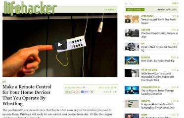 http://lifehacker.com/5898792/make-a-remote-control-for-your-home-devices-that-you-operate-by-whistling