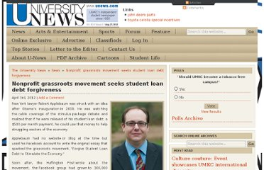http://unews.com/2012/04/03/nonprofit-grassroots-movement-seeks-student-loan-debt-forgiveness/