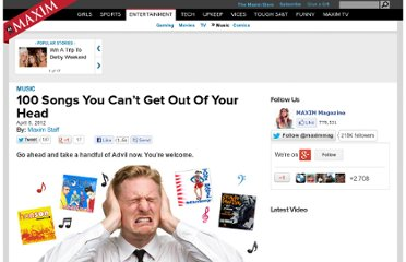 http://www.maxim.com/music/100-songs-you-can-t-get-out-of-your-head