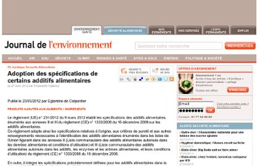 http://www.journaldelenvironnement.net/article/adoption-des-specifications-de-certains-additifs-alimentaires,28241