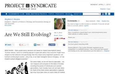 http://www.project-syndicate.org/commentary/are-we-still-evolving-