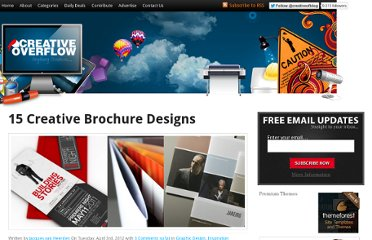 http://creativeoverflow.net/15-creative-brochure-designs/