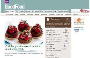 http://www.bbcgoodfood.com/recipes/2665/chilli-burger-with-roasted-tomatoes-and-red-onion-