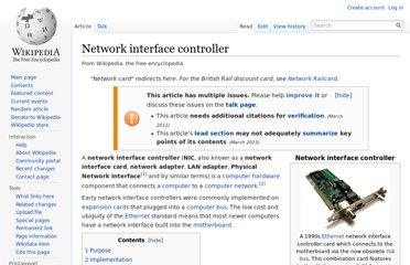 http://en.wikipedia.org/wiki/Network_interface_controller