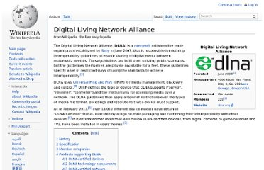 http://en.wikipedia.org/wiki/Digital_Living_Network_Alliance