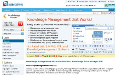 http://www.web-site-scripts.com/knowledge-management/overview.html