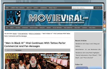 http://www.movieviral.com/2012/04/01/men-in-black-iii-viral-continues-with-tattoo-parlor-commercial-and-fan-messages/