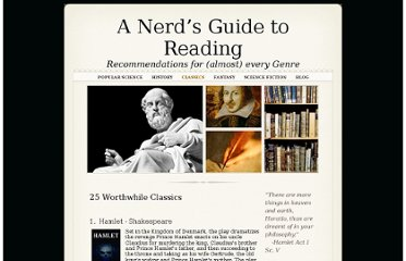 http://nerdsguidetoreading.com/Nerds_Guide_to_Reading/Classics.html