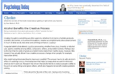 http://www.psychologytoday.com/blog/choke/201204/alcohol-benefits-the-creative-process