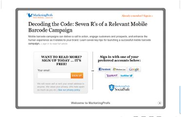 http://www.marketingprofs.com/articles/2012/7524/decoding-the-code-seven-rs-of-a-relevant-mobile-barcode-campaign